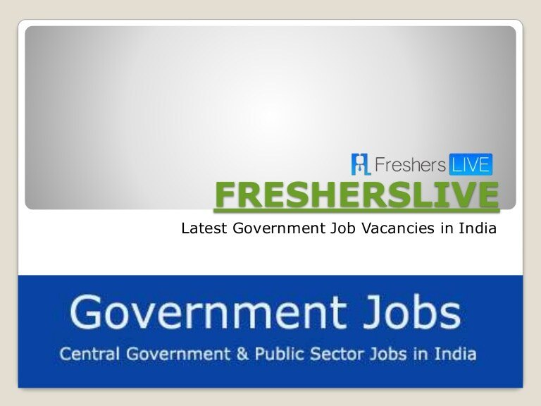 FreshersLIVE - Search For A Job